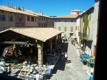 covered market, Lagrasse