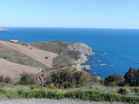 Banyuls Cerbere Coastal Road Languedoc Roussillon