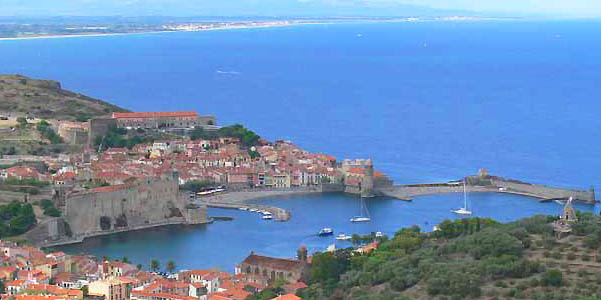 Collioure, on the Mediterranean Sea near Perpignan, Occcitanie, south France