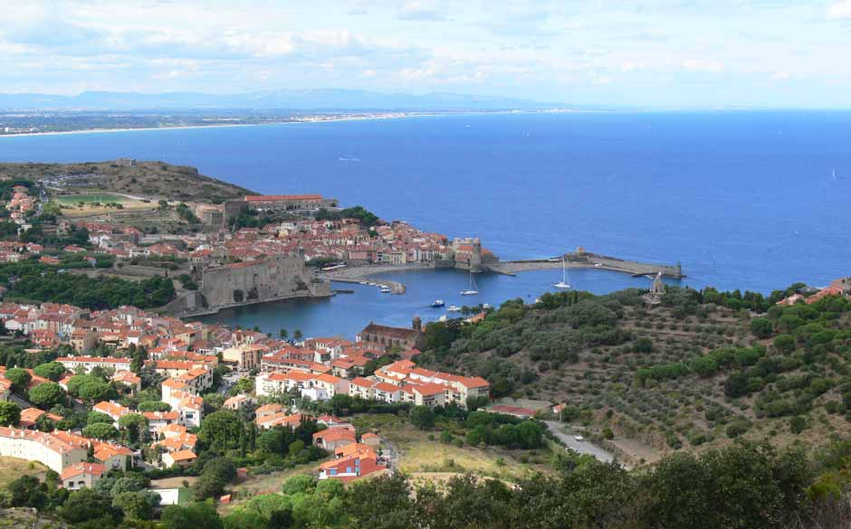 collioure, languedoc roussillon, south france