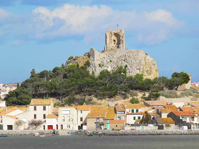 Castle at Gruissan, Aude, south France
