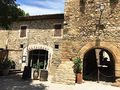 la cave restaurant and entry to 11th c old village