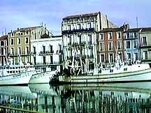 canal at sete languedoc herault