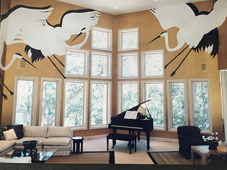 mural commission for Nassau Family, North Oaks, MN, USA by Giles Dennmark